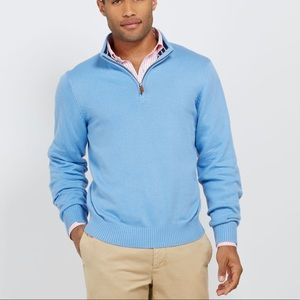 Vineyard Vines Light Sky Blue 1/4 Zip Pullover
